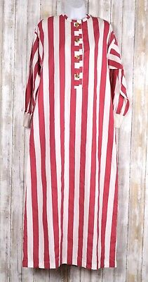 VTG ARIEL BY PETER KEYLOUN Red White Striped  ROBE Size Small