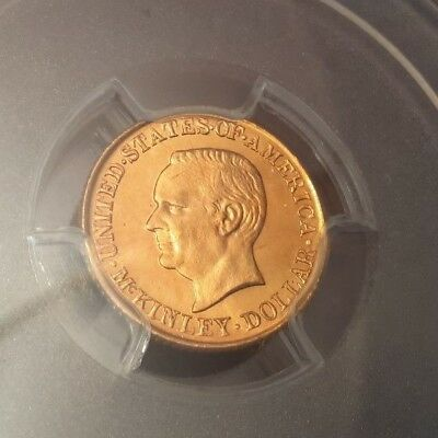 1917 $1 McKinley Gold Commemorative MS66 PROOF-LIKE