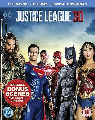 Justice League [Blu-ray 3D + Blu-ray Digital Download] [2017] New & Sealed