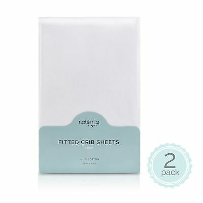 Natemia Fitted Crib Sheets - 100% Turkish Cotton - Pack of 2-28 X 52 for