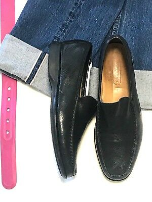 93d9b990f65 COACH MADE IN ITALY Mens LEATHER SHOE 9D BLACK LEATHER SLIP ON LOAFER
