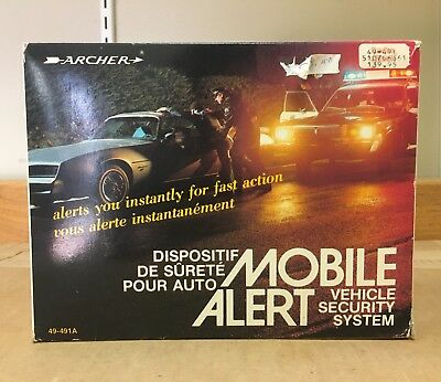 Archer Mobile Alert Vehicle Security system 49-491A