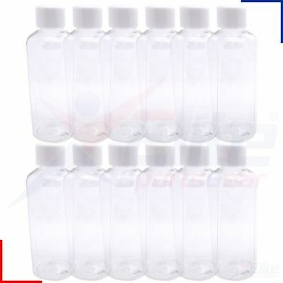 Sure Travel 100ml Clear Transparent Liquid Containers Family Pack 2,6,12 Bottles