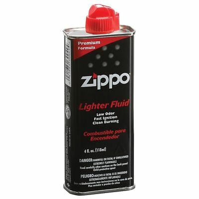 Genuine Zippo 4 oz.118ml Lighter Fluid Fuel Premium New FREE Fast Shipping USA