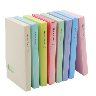 120 Pockets Candy Color Photocard Book Photo Album Card Stock Card Holder LH