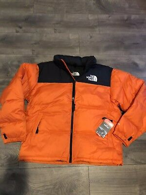 d9458bb3fb New Vintage 1996 Retro The North Face Nuptse 700 Down Jacket Orange Mens L