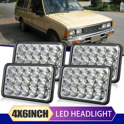 "4pcs 4""x6"" Led Headlights Sealed Beam Light Bulbs Fit Kenworth Isuzu Peterbilt"