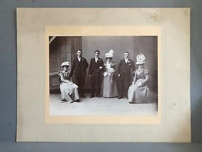 Antique Wedding Photo, Late Victorian or Edwardian, Black White B&W Photograph