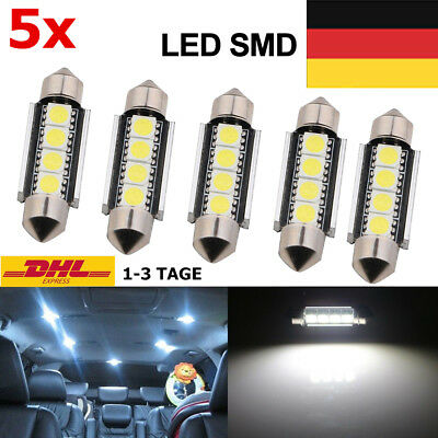 5* LED Canbus Soffitte 31mm 36mm 39mm 41mm 5050 SMD C10W weiß Innenraum Soffite
