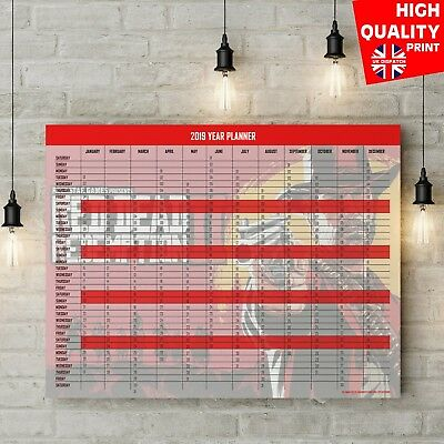 2019 Academic Year Wall Planner Calendar Red Dead Redemption 2  | A4 A3 A2 A1 |