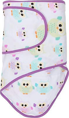 Miracle Blanket Swaddle, Owls with Purple Trim - Baby Swaddling - New, Open Pkg