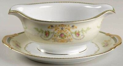 CHARM F&B Japan Meito Fine China Gravy Boat w Under Plate Excellent Condition