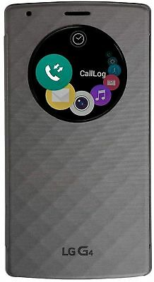LG Wireless Charging Quick Circle Folio Case Snap Cover For LG G4 (Violet Black)