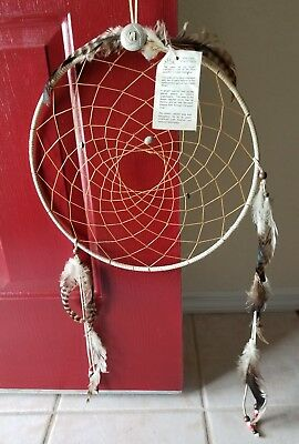 """Authentic Native American dream catcher 15"""" by 30"""""""