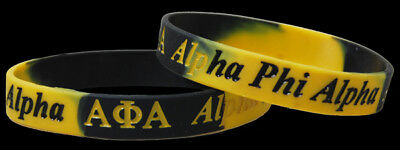 Set of 2 Alpha Phi Alpha Silicone Bracelets Brand New FREE SHIPPING!!!