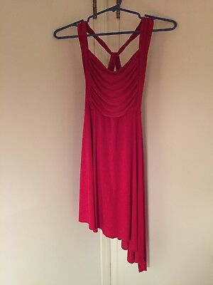 Adult Medium Red Natalie Dancewear Twist Back Dance/Ballet Performance Dress