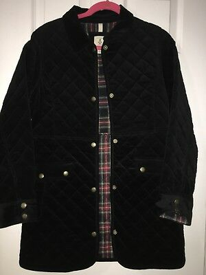 f0eccfe5a09d LANDS  END KIDS Girls Quilted Duffle Car Coat Jacket Black Plaid ...