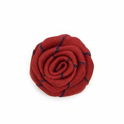 Men's Fabric Lapel Pin Boutonniere Shaped Flower with Clutch Back