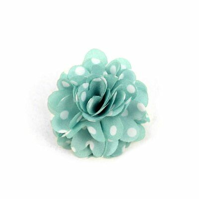 Men's Polka Dot Flower Boutonniere with Clutch Back Lapel Pins
