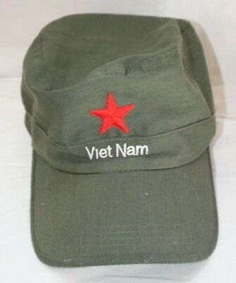 Vietnam Red Star Green Army Military Cap - Imported - Adjustable Youth Size