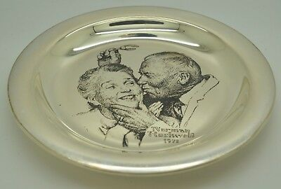Franklin Mint Sterling Silver Limited Edition 1971 Norman Rockwell Plate