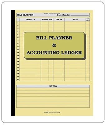 Bill Planner Accounting Ledger Book Account Journal Record Keeping Home Office