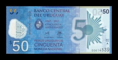 Uruguay 50 Pesos 2018. Pick New. Polymer. Commemorative. Sc. Unc