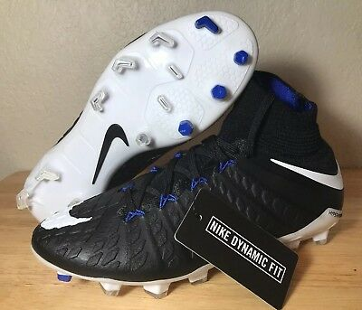 b5f0def7ba4 Nike JR Hypervenom Phantom 3 DF FG SZ 4y Youth Black Soccer Cleats (882087-