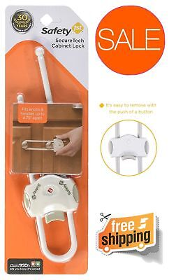 4 Safety 1st SecureTech Cabinet Lock FOR Knobs & Handles Child Safety Baby  []