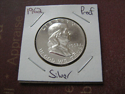 1962 PROOF FRANKLIN SILVER HALF DOLLAR        VERY NICE COIN #af