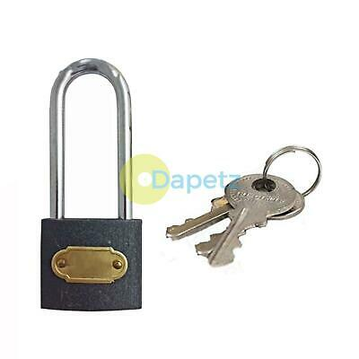 Heavy Duty Cast Iron Padlock 50mm Long Shackle Outdoor Safety Security Lock
