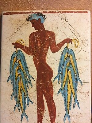 Fresco The Young Fisherman Thera Hand Made Greece Ergani Athena Vintage Tile