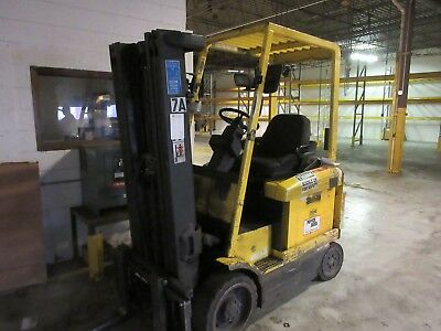 "Hyster Forklift Lift Truck Electric w/ Charger Cushion Tire 189"" Lift"