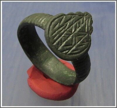 ** SAGITTARII-ARCHERY **Ancient Bronze Legionary Roman Ring **AMAZING **