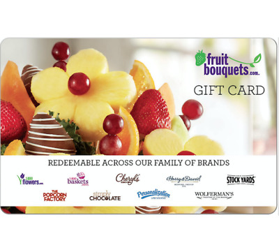 FruitBouquets.com Gift Card - $25 $50 or $100 - Email delivery