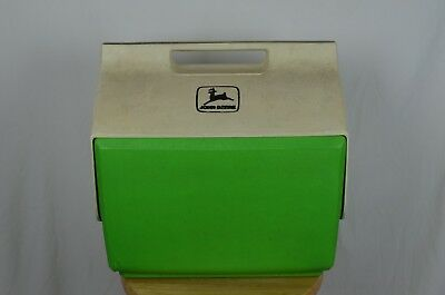Vintage John Deere Green White Lunch Boxes Cooler