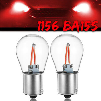 2x 1156 BA15S P21W COB Red LED Turno Segnale Light Inverso Backup Lampadina