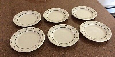 "Longaberger Dishes 7.25"" in Traditional Classic Blue Set of 7"