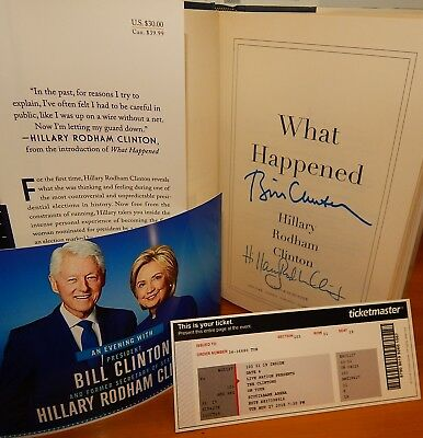 "HOT ITEM! Only $99 Autographed ""What Happened"" SIGNED by HILLARY CLINTON Rare"