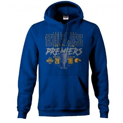 West Coast Eagles WCE Official AFL Grand Final Youth 2018 Premiership Hoody