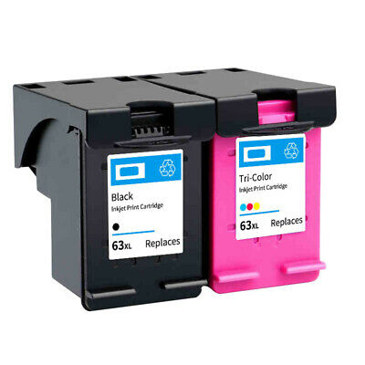 Non-OEM Ink Cartridge for HP 63 XL Printer for HP 63 Officejet 2620 4500