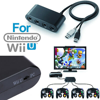 4 Port Gamecube NGC Controller Adapter For Nintendo Wii U & Switch and PC USB US