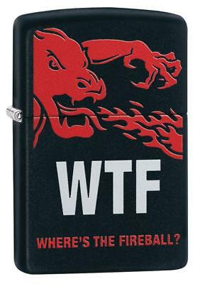Zippo Fireball Whisky Lighter With Fire Breathing Dragon, WTF, 29849, New In Box