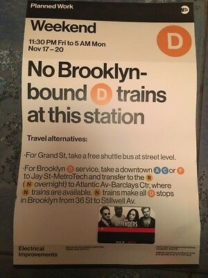 NYC MTA Poster Sign And MetroCard No Value Empty