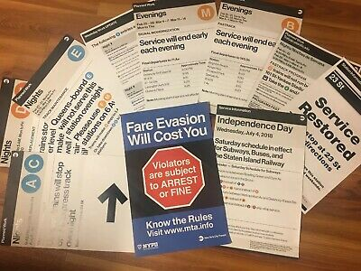 NYC MTA 2 Poster Signs And Metro cards No Value Empty Preowed.