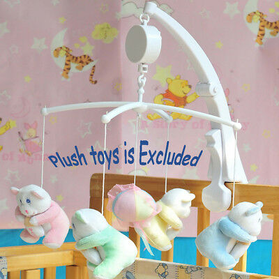 Rotary Baby Mobile Crib Bed Toy Music Box Movement Bell Nursery Auto