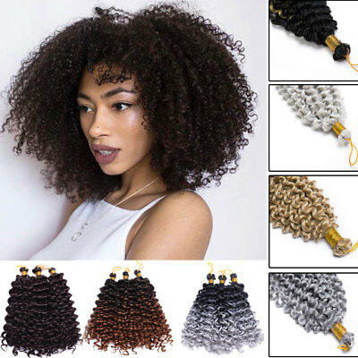 US Sale Full Head Water Wave Deep Curly Crochet Braids as Human Hair Extensions