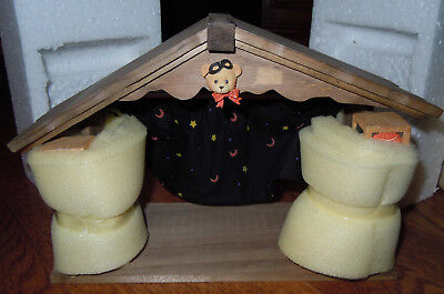 Cherished Teddies 1995 Beary Scary Halloween House - New In Box Item 152382