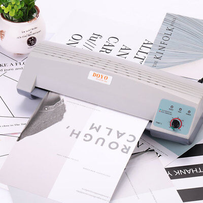 98E8 Thermal Laminator A4 Photo Warm Up Paper Film Document Roll Machines Office