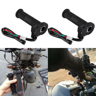 2pcs Black Electric Heated Molded Grips Warmer Handlebar-22mm Fit Motorcycle BM1